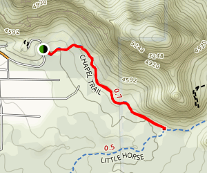 Chapel of the Holy Cross Trail Map
