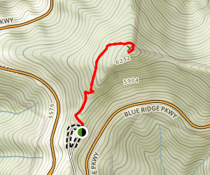 Waterrock Knob Trail Map