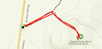Sand Dune Arch Trail Map