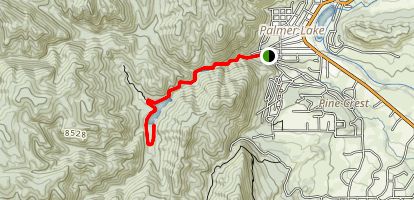 Palmer Lake Reservoir Trail Map