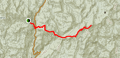Appalachian Trail: Unicoi Gap to Tray Gap Map