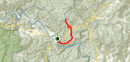 Appalachian Trail: Hot Springs to Rich Mountain Lookout Map