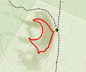 Lava Beds Trail Map