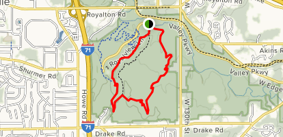 Yellow and Red MTB Loop Map