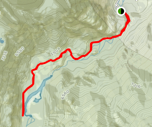 Sioux Charley Lake Trail Map