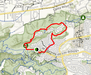 Santa Rosa Trail and Lower Butte Trail Loop Map