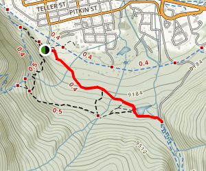 Rainbow Lake Trail Map