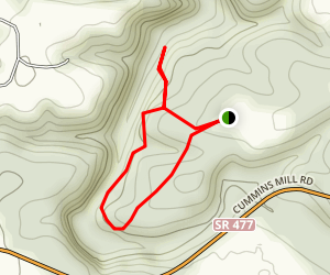 Cummins Falls Trail Map