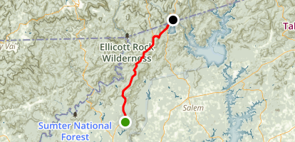 Oscar Wigginton Memorial Scenic Byway Map