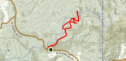 Martis Peak Trail Map