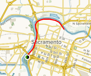 Sacramento Waterfront Trail Map