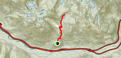 Talapus and Olallie Lakes Trail Map
