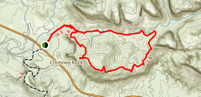 Chimney Rock Loop Trail Map