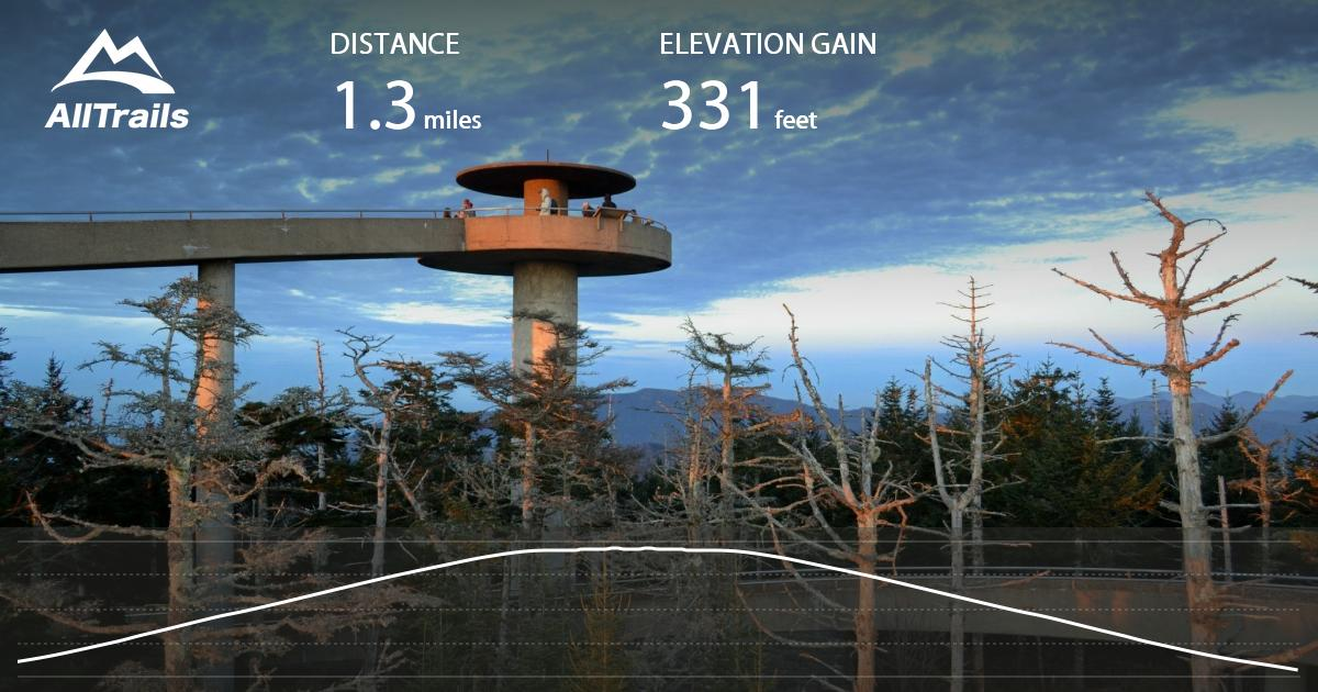 Clingmans Dome Observation Tower Trail North Carolina