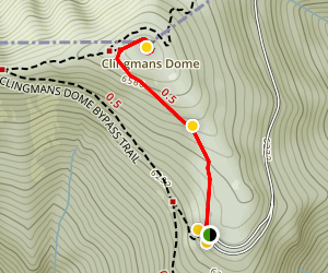 Clingmans Dome Observation Tower Trail Map