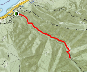 Eagle Creek to Punchbowl Falls (CLOSED) Map