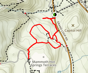 Mammoth Hot Springs Terrace Trails Map
