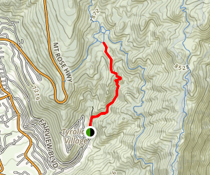 Diamond Peak Ski Resort Trail Map