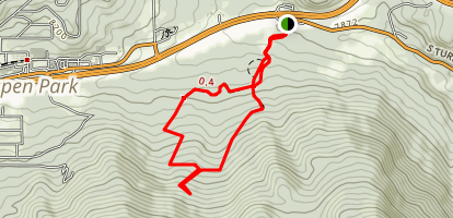 Sunny Aspen Loop Trail Map