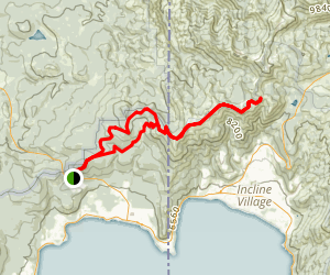 Brockway Summit to Mount Baldy Out-and-Back Trail Map