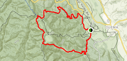 Bear Valley and Horse Trail Loop Map