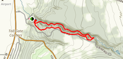 Fillmore Glen Rim Trail Map