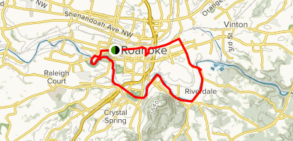 Roanoke River Greenway Trail Map