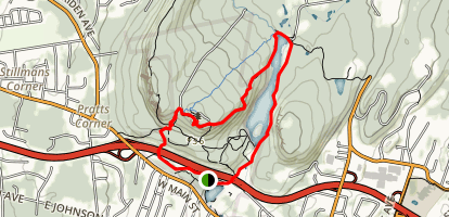 Hanging Hills Trail Map