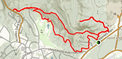 Sewanee Trail to Green's View and Piney Point Map
