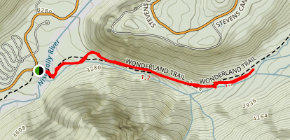 Madcap Falls Trail Map