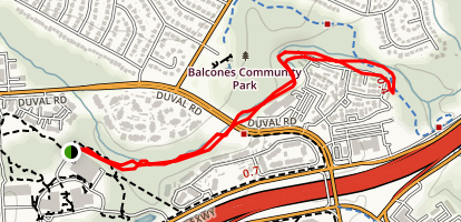Balcones Park Trail Map