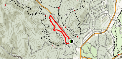 Forrest Service Fitness Trail Map