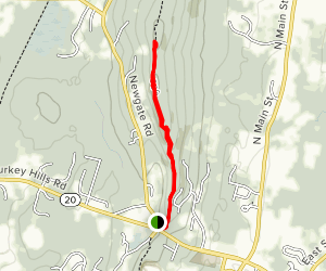 Peak Mountain via Metacomet Trail Map