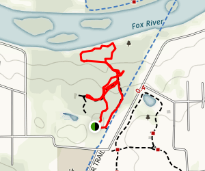 Tekakwitha - Fox River Hike Map