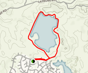 Lake Calero Loop [PRIVATE PROPERTY] Map