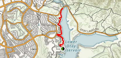 Lower Otay Lake Map
