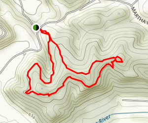 Kanawha Trace Trail Map