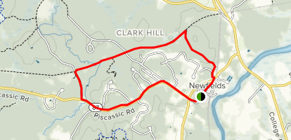 Newfields Trail Map