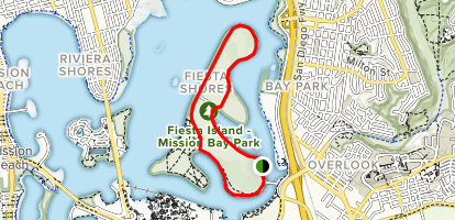 Fiesta Island Trail Map