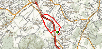 Martindale Run Map