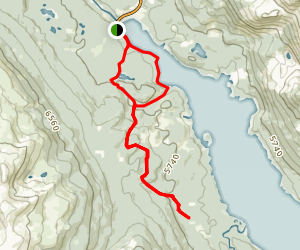 Great Divide Trail: Maligne Lake to Jasper Map