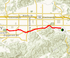 Simi Bike Trail Map