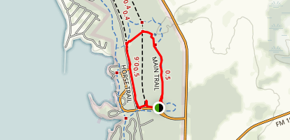 Lake Livingston Main Trail Map