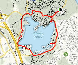 Olney Pond Loop Map
