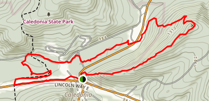 Greefenburg Hill and Conococheague Creek Loop Trail Map