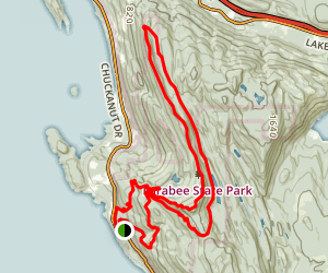 Larrabee State Park Campground to Lost Lake and Ridge Trail Loop Map