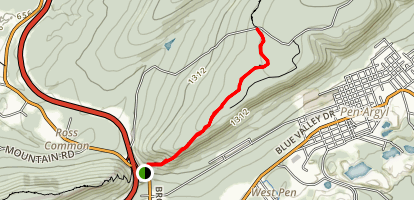 Appalachian Trail: Wind Gap to Smith's Shelter Map