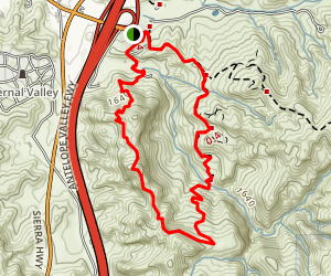 Elsmere Canyon Trail Map