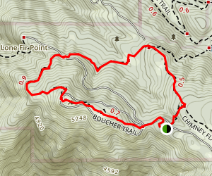 Boucher Trail and Scott's Cabin Loop Map