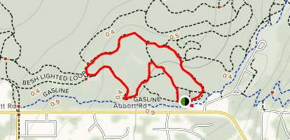 Hillside (Besh) Lighted Loop Trail Map
